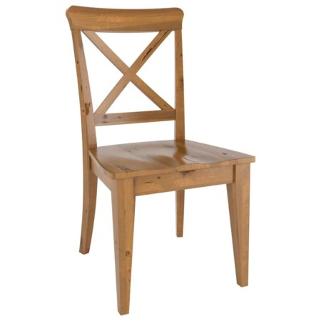 Customizable Dining Side Chair with Wood Seat