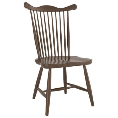Customizable Side Chair with Spindle Back