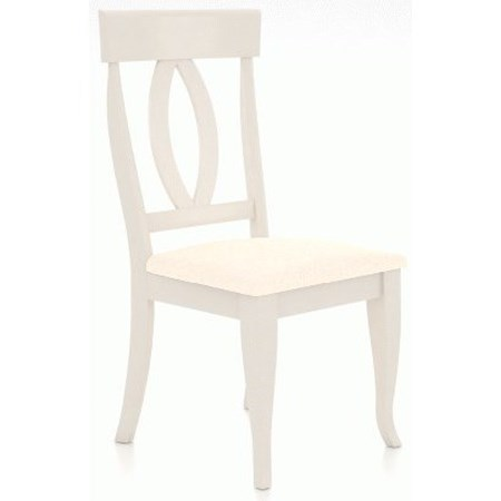 Customizable Dining Side Chair with Upholstered Seat