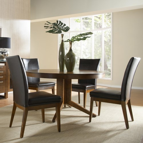 Canadel custom dining customizable round table set for Dining sets nashville tn