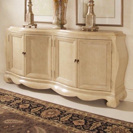 Credenza with Marble Inserts