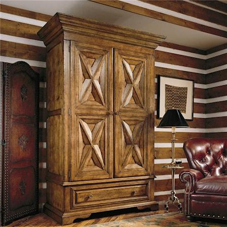 Santa Fe Armoire with Elegant Paneled Doors