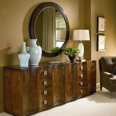 Pair of Chests and Ebonized Mirror