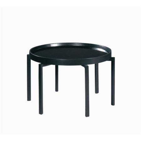 Round Coffee Table with Glass Insert