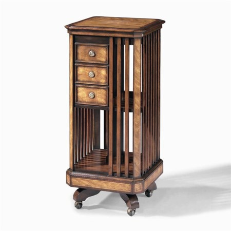 Revolving Bookcase with Three Drawers