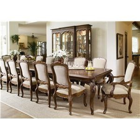 Large Dining Room Table and Side and Arm Chair Set