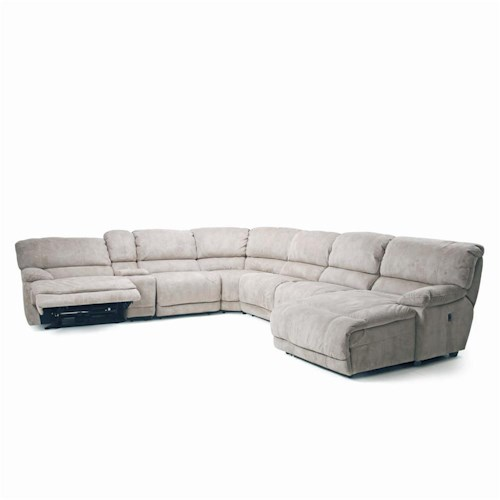 Choices Ii 8532 Modular Reclining Sectional Power Option Walker 39 S Furniture Reclining