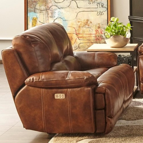 Cheers Sofa 5185m Dual Power Motion Loveseat With Power Headrests Westrich Furniture