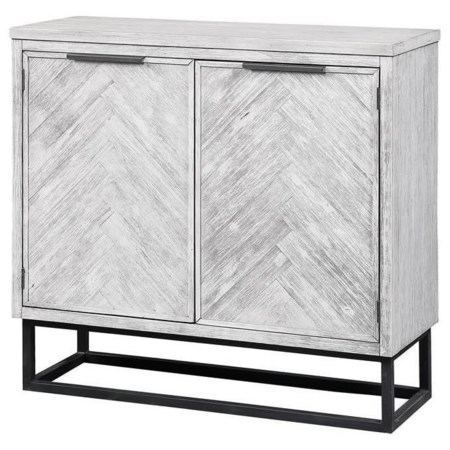 Contemporary Two Door Cabinet