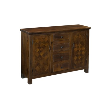 Four Drawer Two Door Sideboard