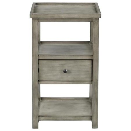 Casual One-Drawer Chairside Table