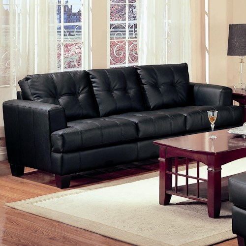 Coaster Samuel Contemporary Leather Sofa Rife 39 S Home Furniture Sofa