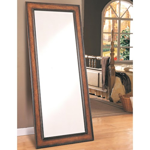 Long floor mirror accent mirrors by coaster wilcox for Long mirrors for bedroom