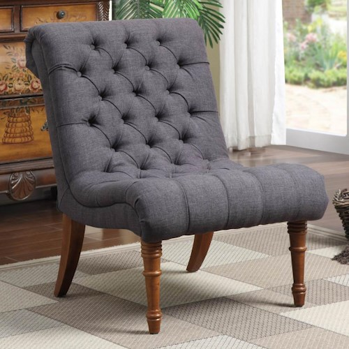 Coaster Accent Seating Tufted Accent Chair Without Arms Dream Home Furniture Upholstered
