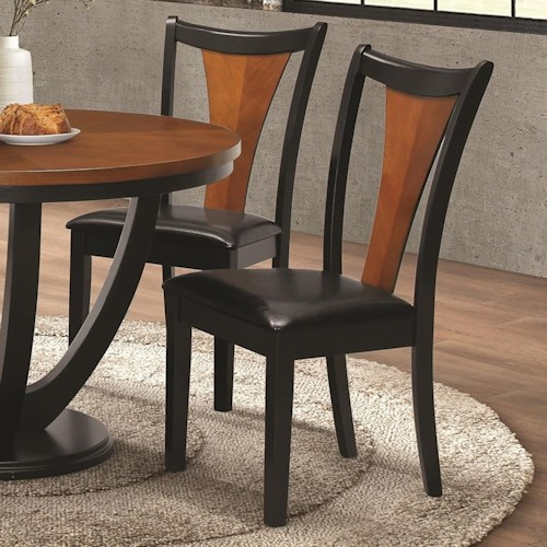 Coaster Boyer Contemporary Side Chair With Upholstered Seat Rife 39 S Home Furniture Dining