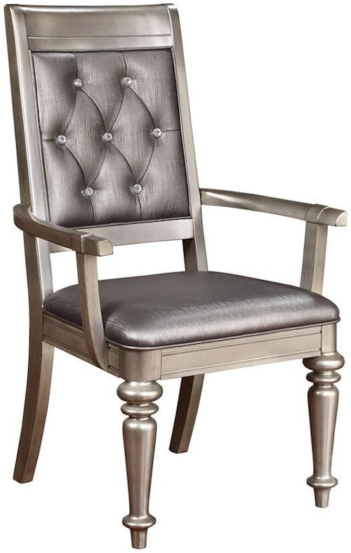 Coaster Danette Upholstered Arm Chair With Tufted Back Rife 39 S Home Furniture Dining Arm Chairs