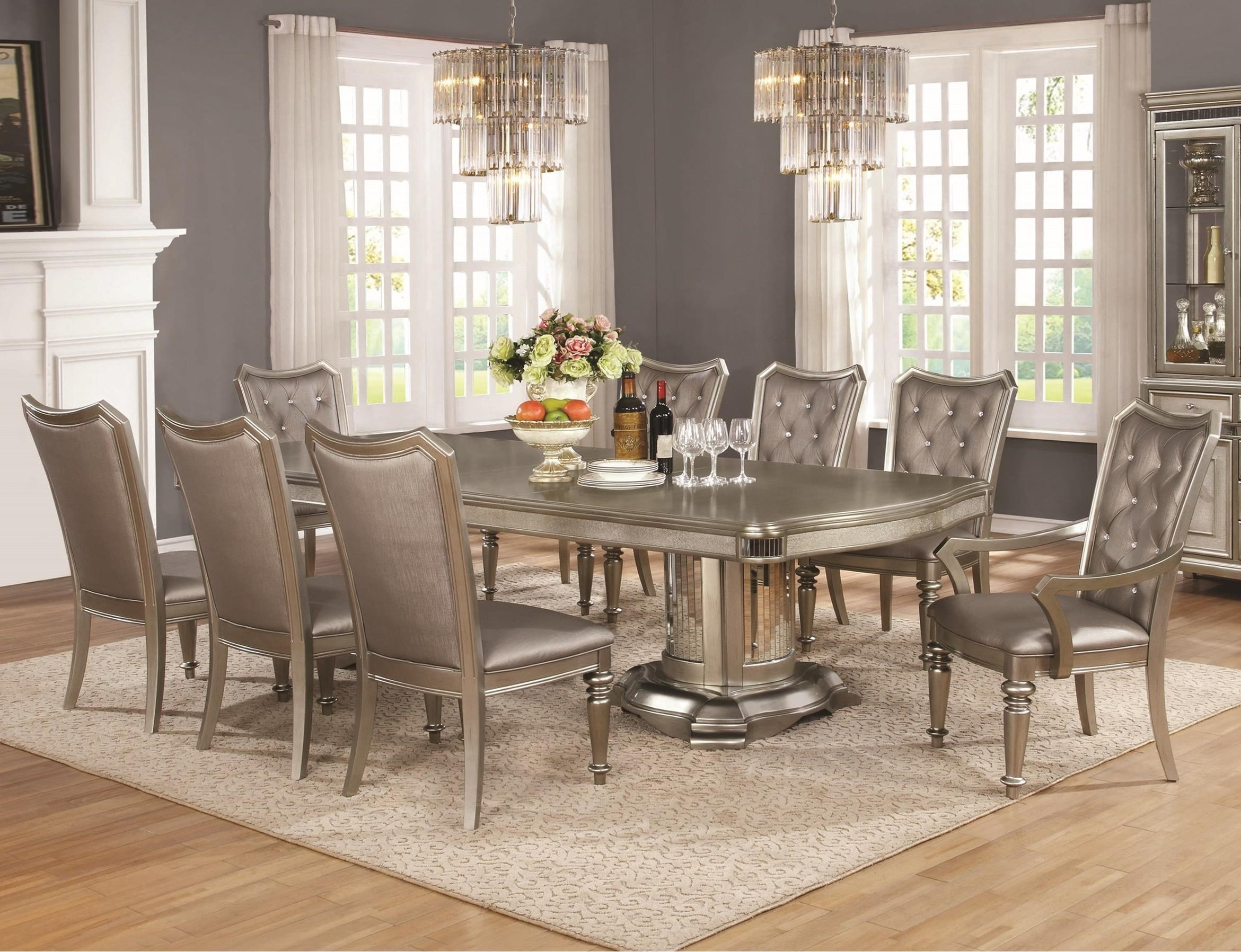 coaster piece table chair set leaf 9 formal dining room sets square with buffet
