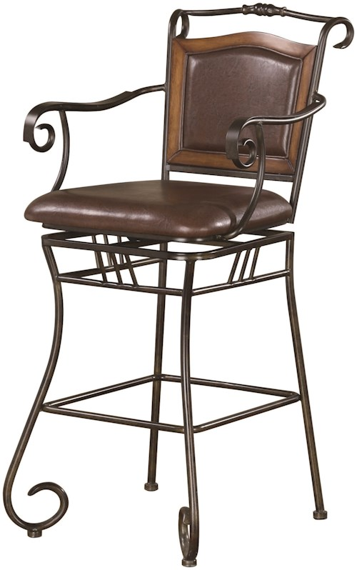 Coaster dining chairs and bar stools 100159 29 metal bar for Furniture 0 percent financing