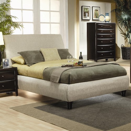 Coaster Phoenix King Contemporary Upholstered Bed