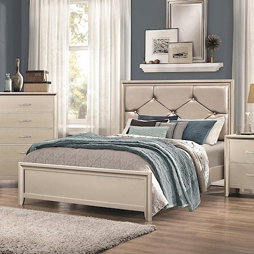 Coaster lana queen bed with upholstered headboard standard furniture panel beds birmingham for Bedroom furniture huntsville al
