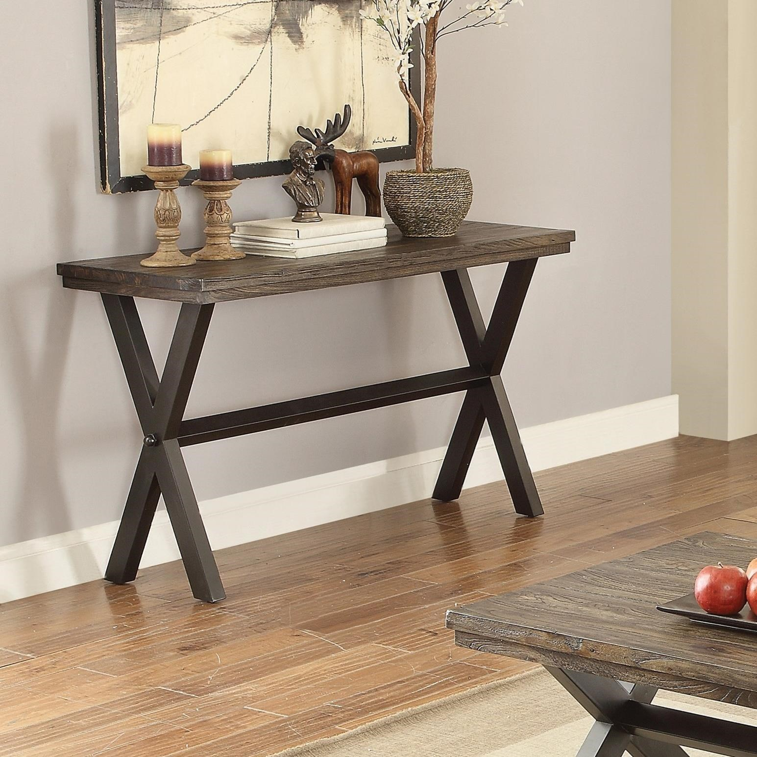 coaster rustic sofa table with wheels tables drawers