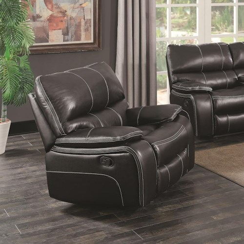 Coaster Willemse Casual Glider Recliner With Lumbar Support Beck 39 S Furniture Three Way