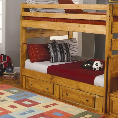 Coaster Wrangle Hill Full Over Full Bunk Bed With Pull Out