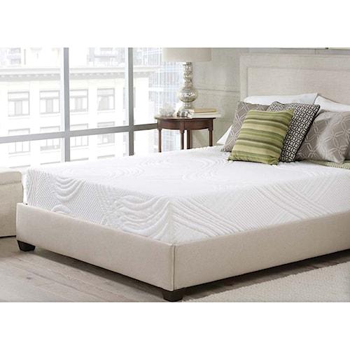 corsicana luxen bed in a box queen 10 memory foam mattress in a box nassau furniture. Black Bedroom Furniture Sets. Home Design Ideas