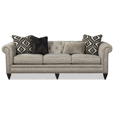 Large 99 Inch Sofa with Small Nailheads