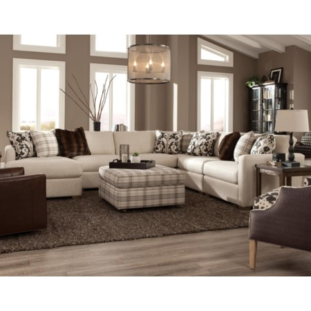 Five Piece Sectional with LAF Chaise