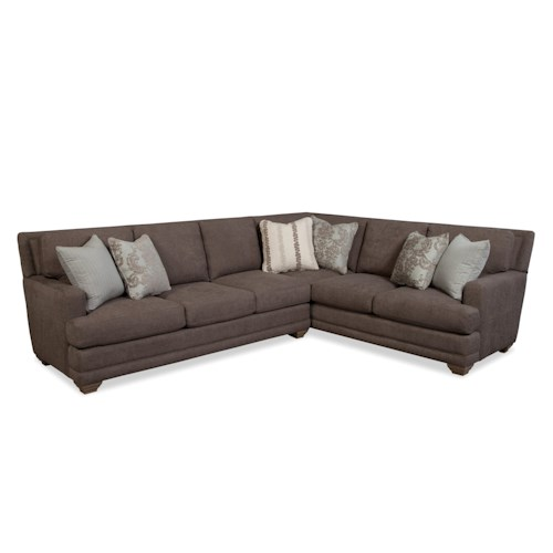 Traditional Sofa Pillows : Craftmaster 753650 Traditional Sectional Sofa with Toss Pillows - Belfort Furniture - Sectional ...