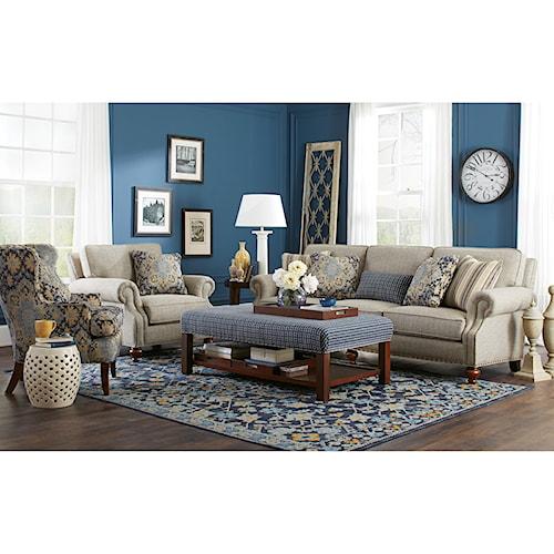 Craftmaster 762300 Living Room Group Belfort Furniture Stationary Living