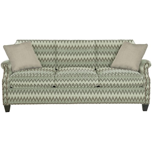 Hickory Craft 9383 Transitional Sofa With Clipped Corner