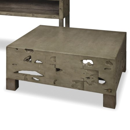 Rustic Weathered Gray Cocktail Table