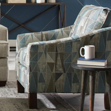 Contemporary Chair with Flair Tapered Arms