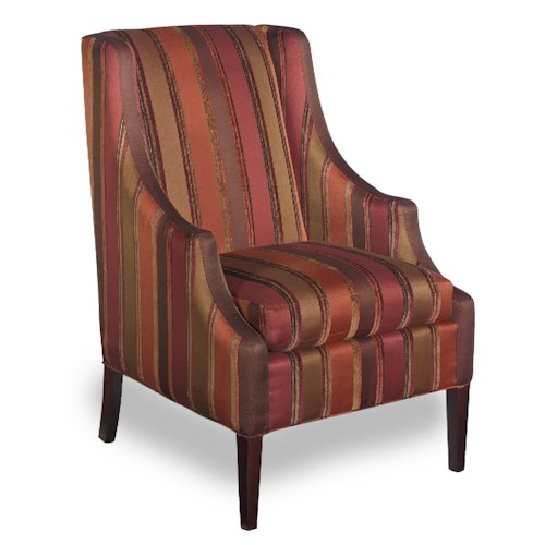 Hickory Craft Accent Chairs Transitional Chair With
