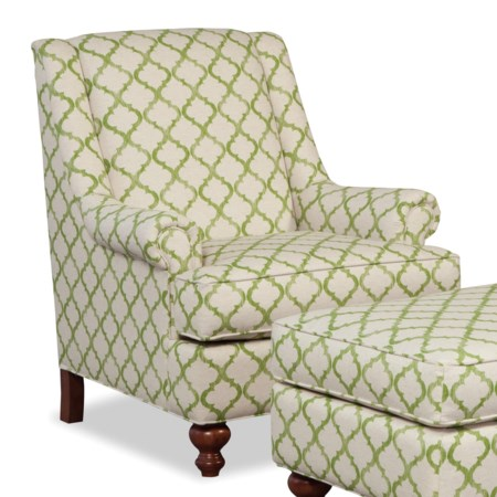 Traditional Chair with Rolled Panel Arms