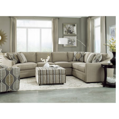 Customizable 3-Piece Sectional with LAF Cuddler