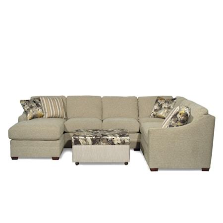 Customizable3-Piece Sectional with RAF Sofa w/ Return