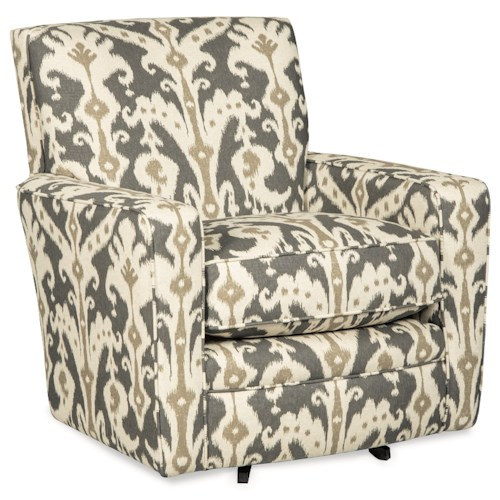 Craftmaster swivel chairs contemporary upholstered swivel for Swivel accent chairs with arms