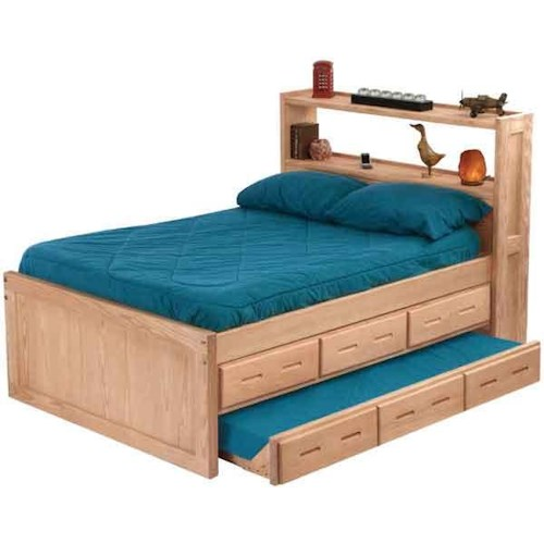 Crate designs pine bedroom double captain 39 s bed with headboard bookcase and under bed storage Home furniture port arthur hours