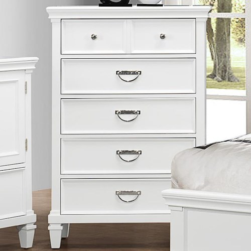 Crown Mark Hannah Chest Of Drawers With 5 Drawers Bullard Furniture Chest Of Drawers
