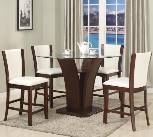 crown mark camelia white 5 piece counter height table and stool set wayside furniture pub. Black Bedroom Furniture Sets. Home Design Ideas