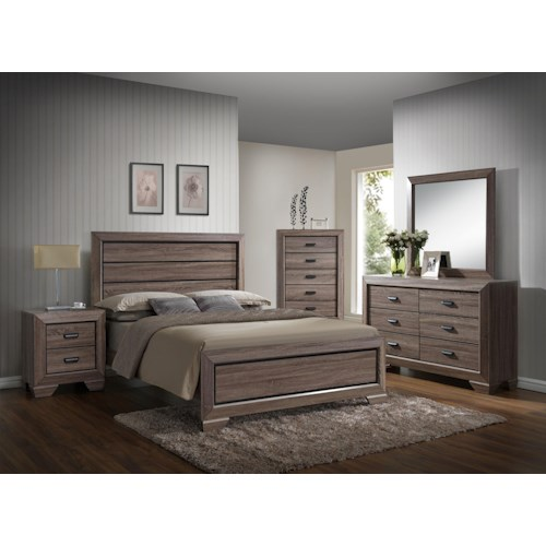 Crown mark farrow queen bedroom group wayside furniture for Bedroom furniture groups