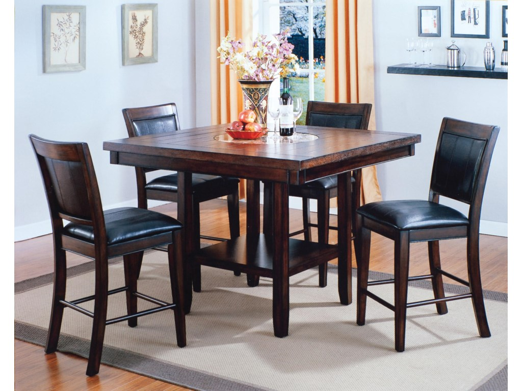 Finest Crown Mark Fulton Counter Height Table with Lazy Susan and  IX32