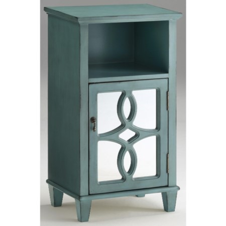 1 Door Cabinet with Mirrored Door