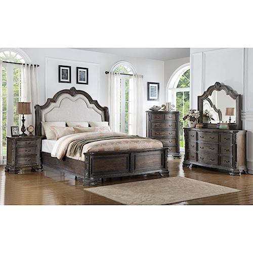 crown mark sheffield queen bedroom group bullard. Black Bedroom Furniture Sets. Home Design Ideas