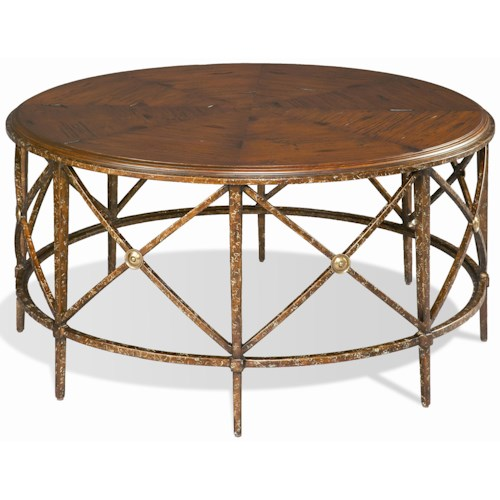 Cth Sherrill Occasional M50 Wrought Iron Round Cocktail Table Design Interiors Cocktail