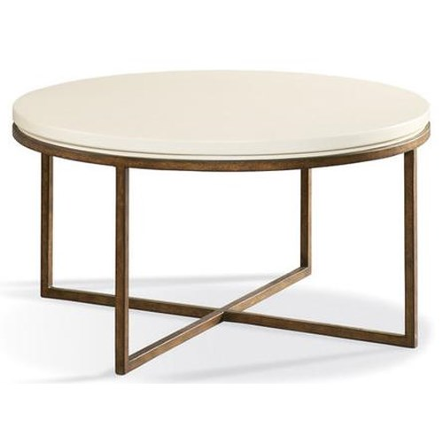 Cth Sherrill Occasional Metro Classics Contemporary Round Cocktail Table Design Interiors