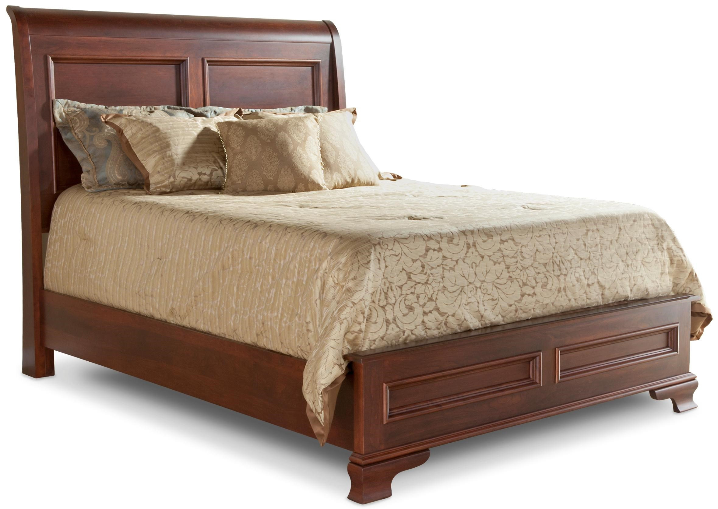 Classic Queen Sleigh Bed with Low Footboard Rotmans
